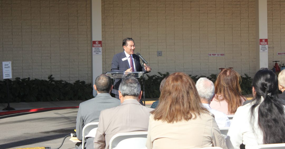 Beverly Hospital Vice President of Development & Community Relations Les Fujimoto delivered the welcoming speech to all.
